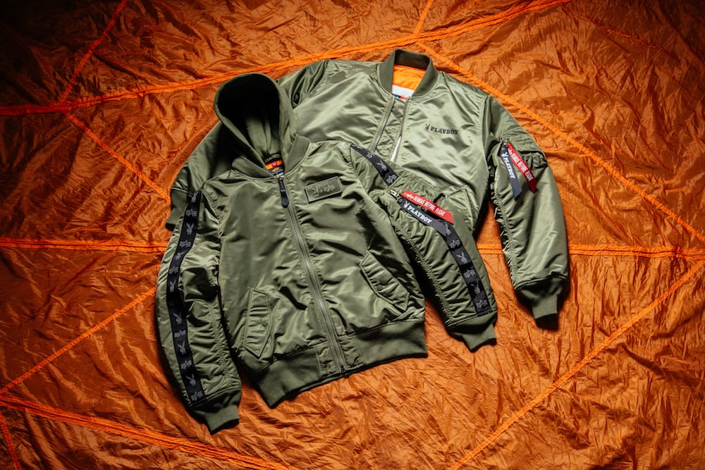 alpha industries playboy th anniversary capsule collection