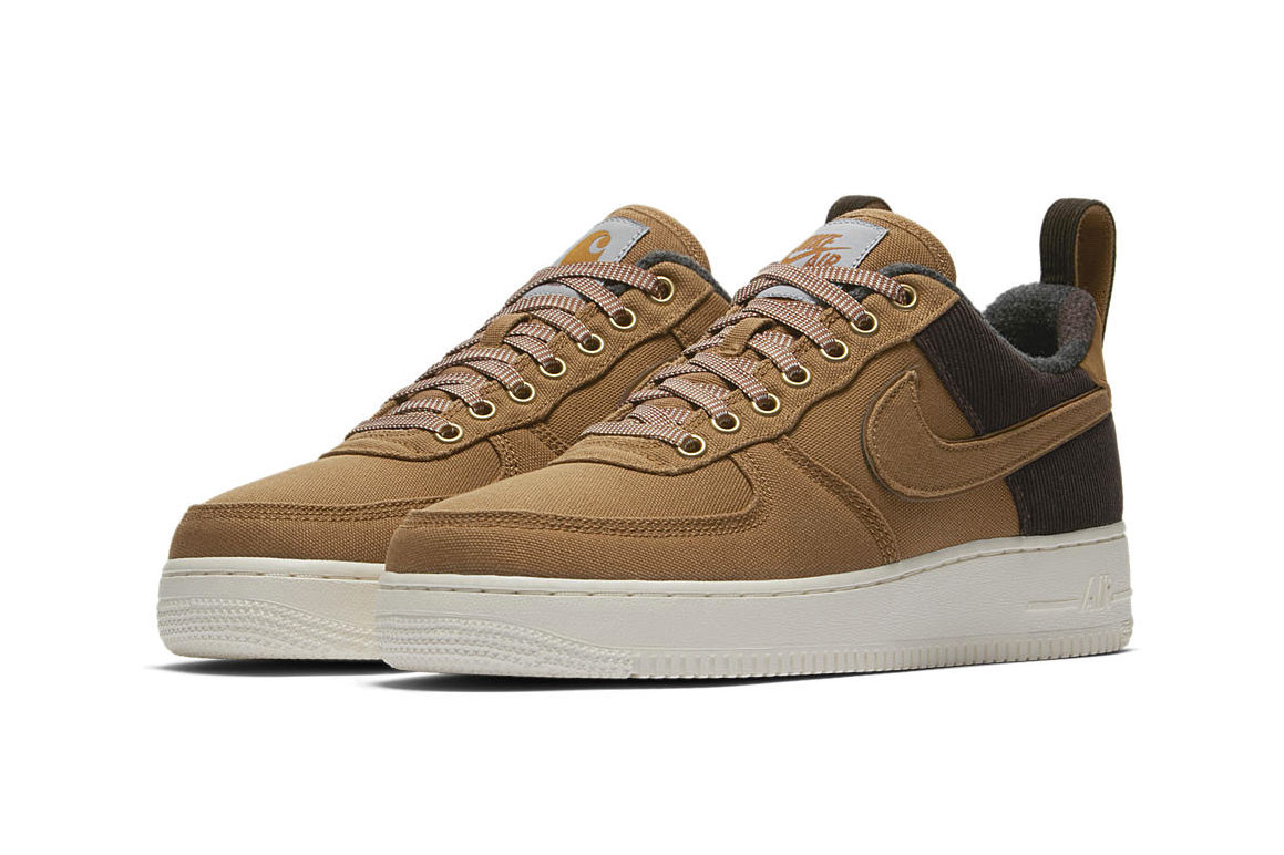 buy popular 78382 fd6b2 Expect the Carhartt WIP x Nike Air Force 1 to arrive on December 6 through  the Nike web store and select Swoosh retailers. See the full details in the  ...