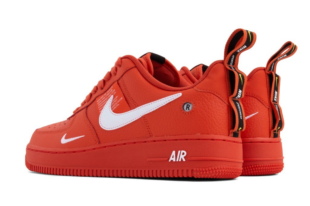"timeless design 0af2c 18842 Get the Nike Air Force 1  07 LV8 Utility ""Team Orange"" right now either at  select retailers or online."