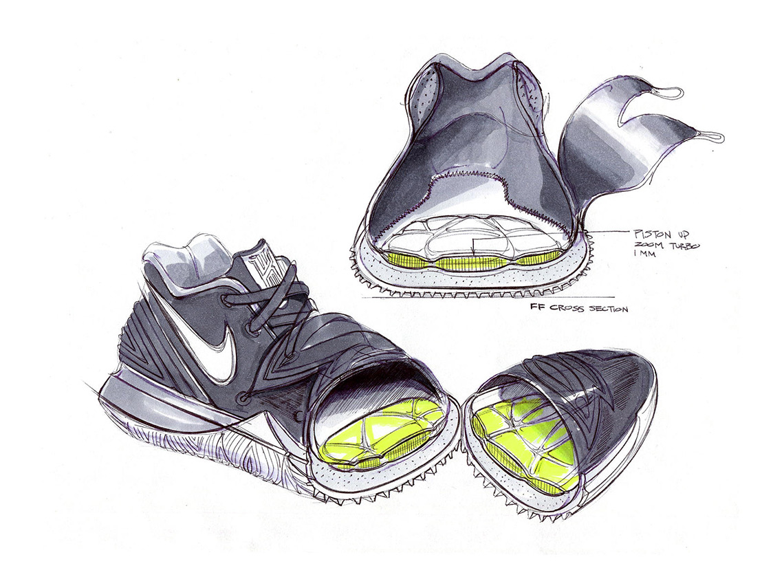 """e7bf8b3c695cb7 Expect the Nike Kyrie 5 to drop officially in its initial """"Black Magic""""  colorway on November 22"""