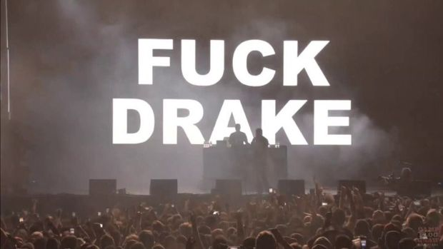 Pusha T Blames Tech Guy For 'F*ck Drake' Back Drop