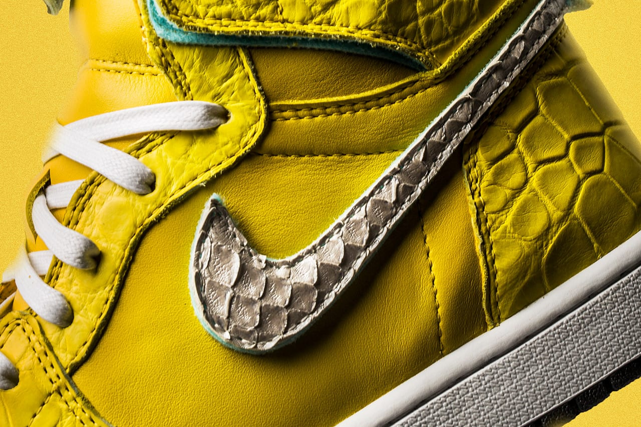 """004d3e6c294 Check out The Shoe Surgeon s Air Jordan 1 """"Canary"""" below in better detail"""