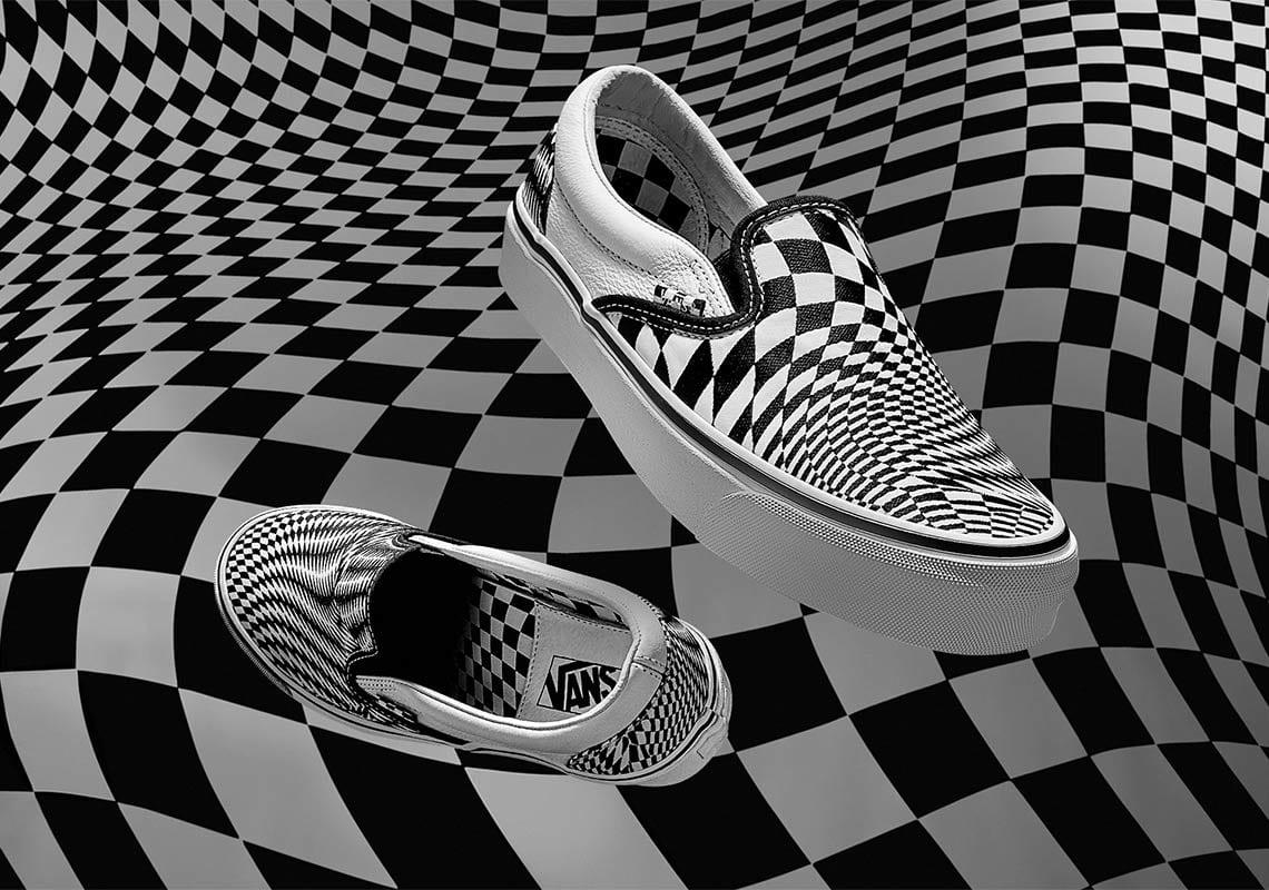 vans end clothing vertigo checkerboard old skool slip on