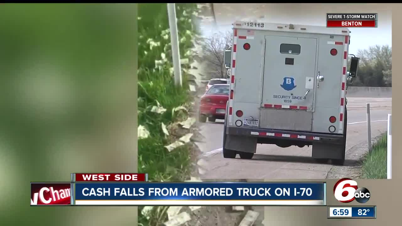Brinks Truck Makes it Rain on New Jersey Highway