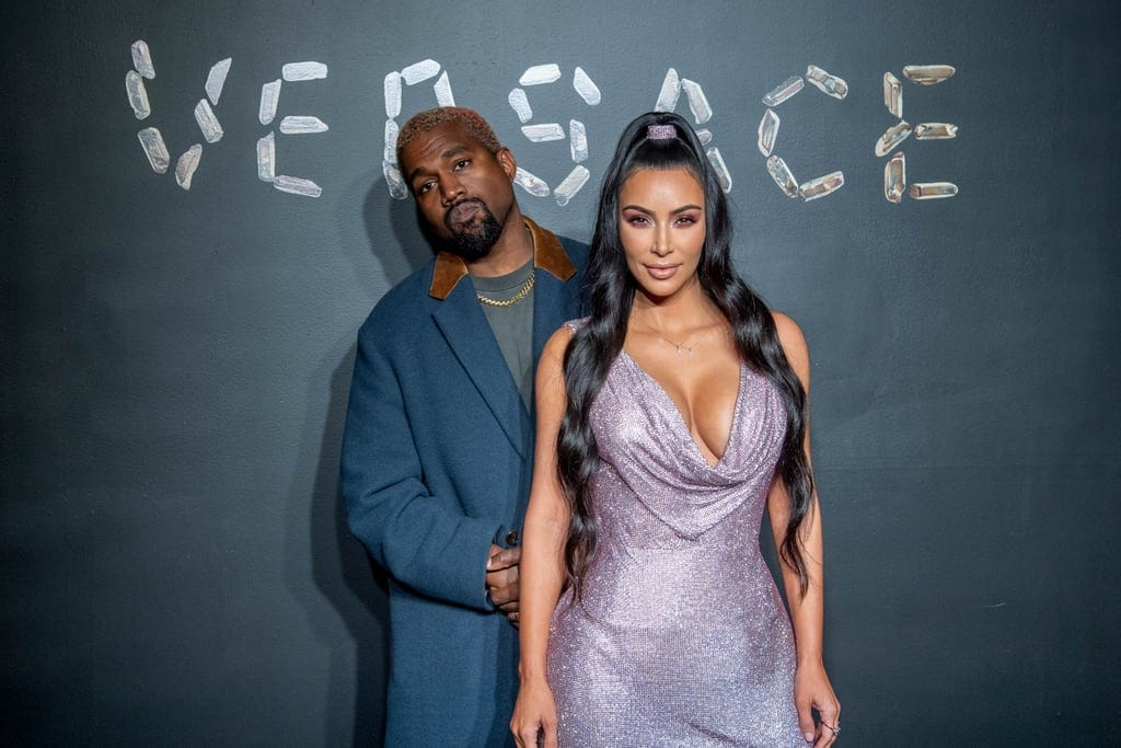 Kim Kardashian Kanye West Versace Fashion Show