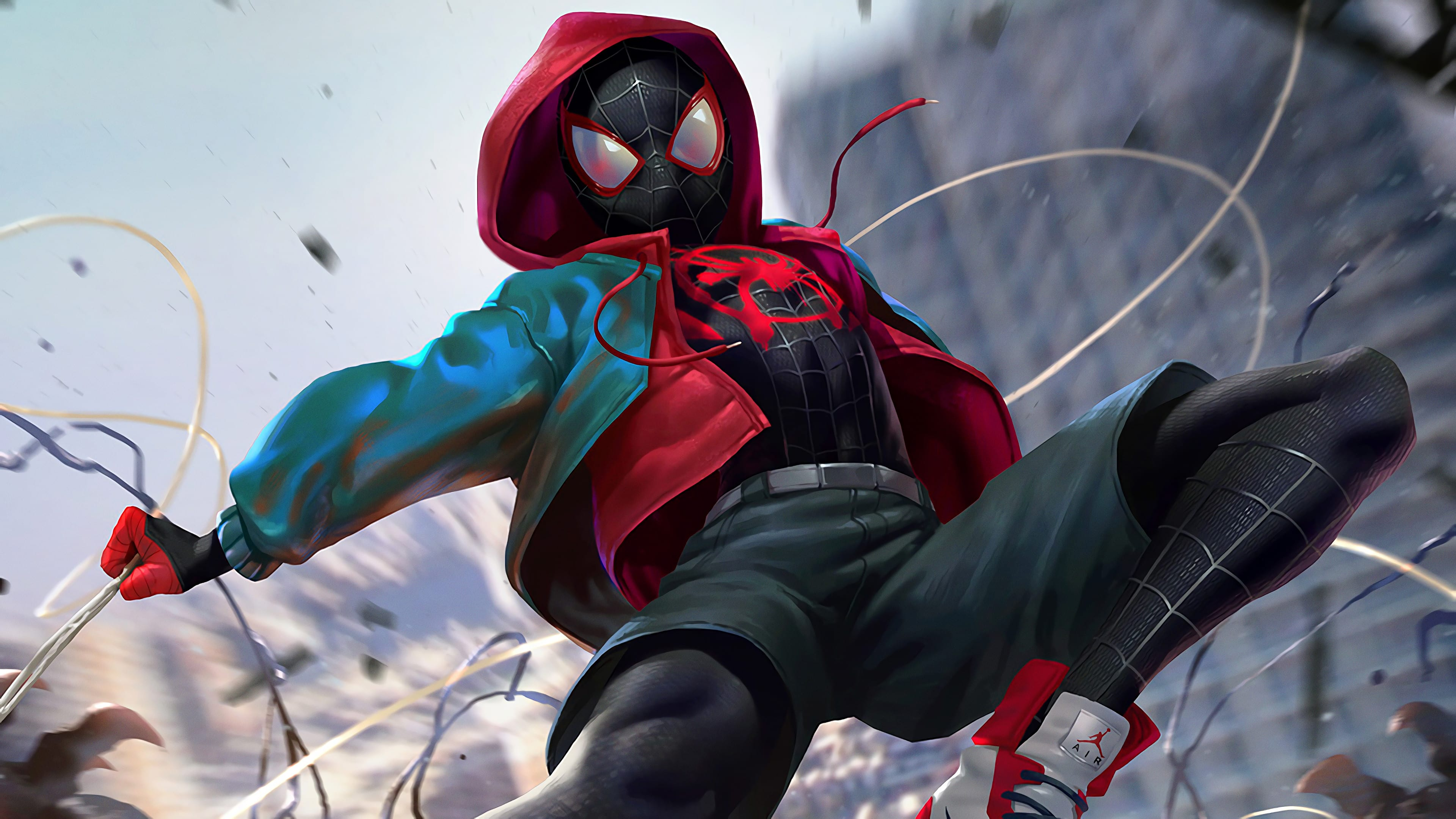 First look miles morales the spider man from brooklyn - New spiderman movie wallpaper ...