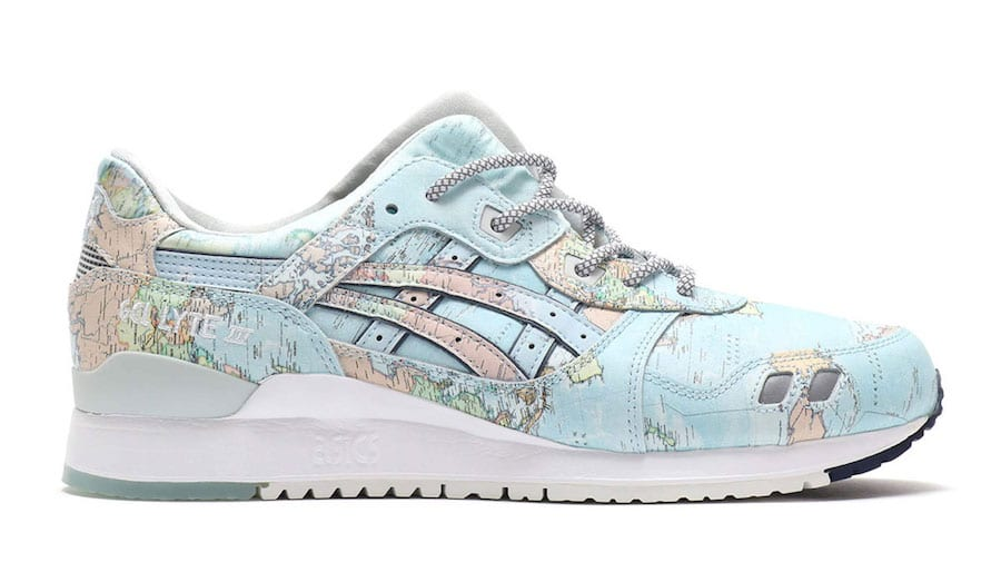 atmos asicstiger gel lyte iii world map