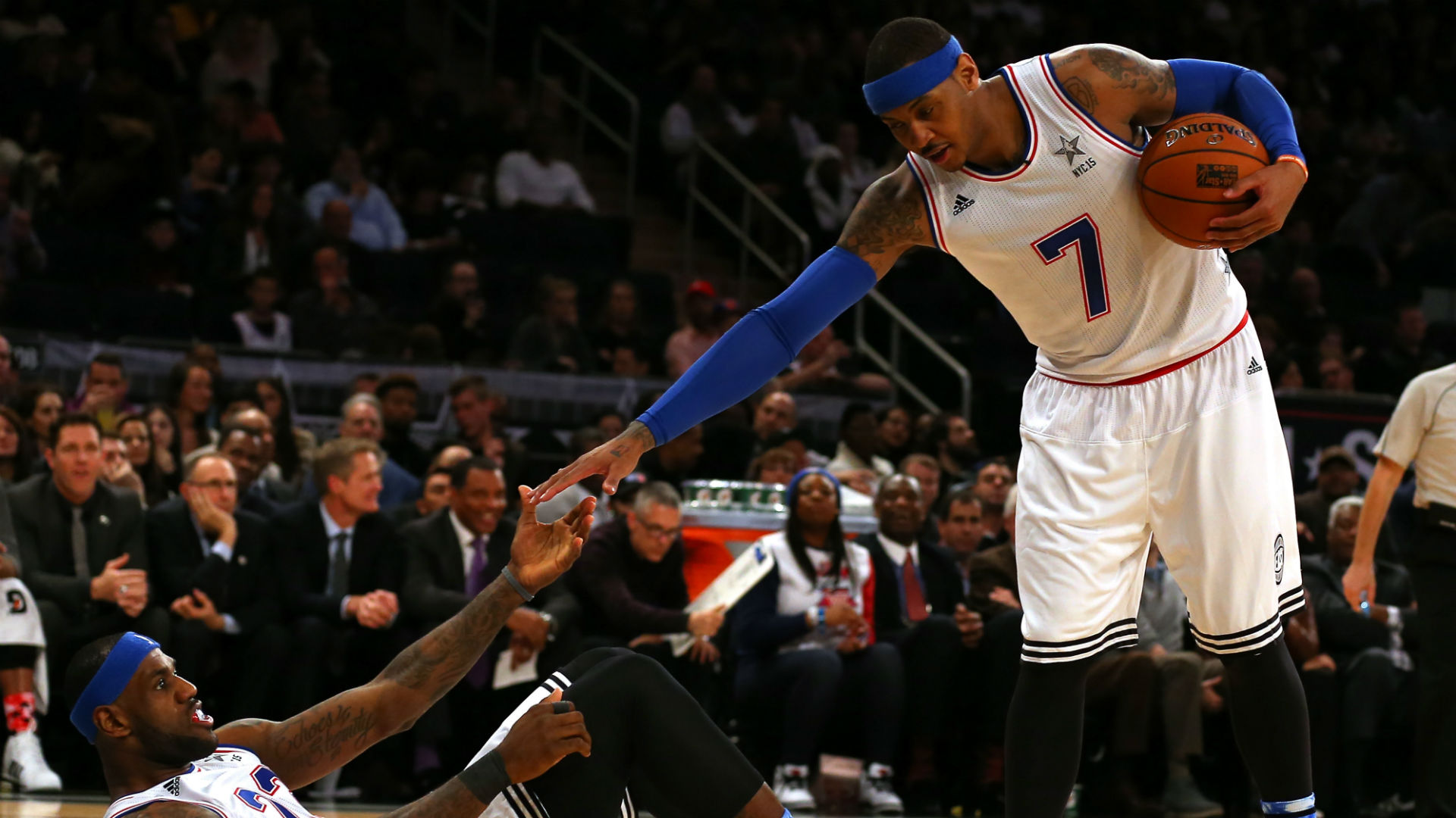 79ba8337b Is LeBron James Recruiting Carmelo Anthony to Join Him in Los Angeles