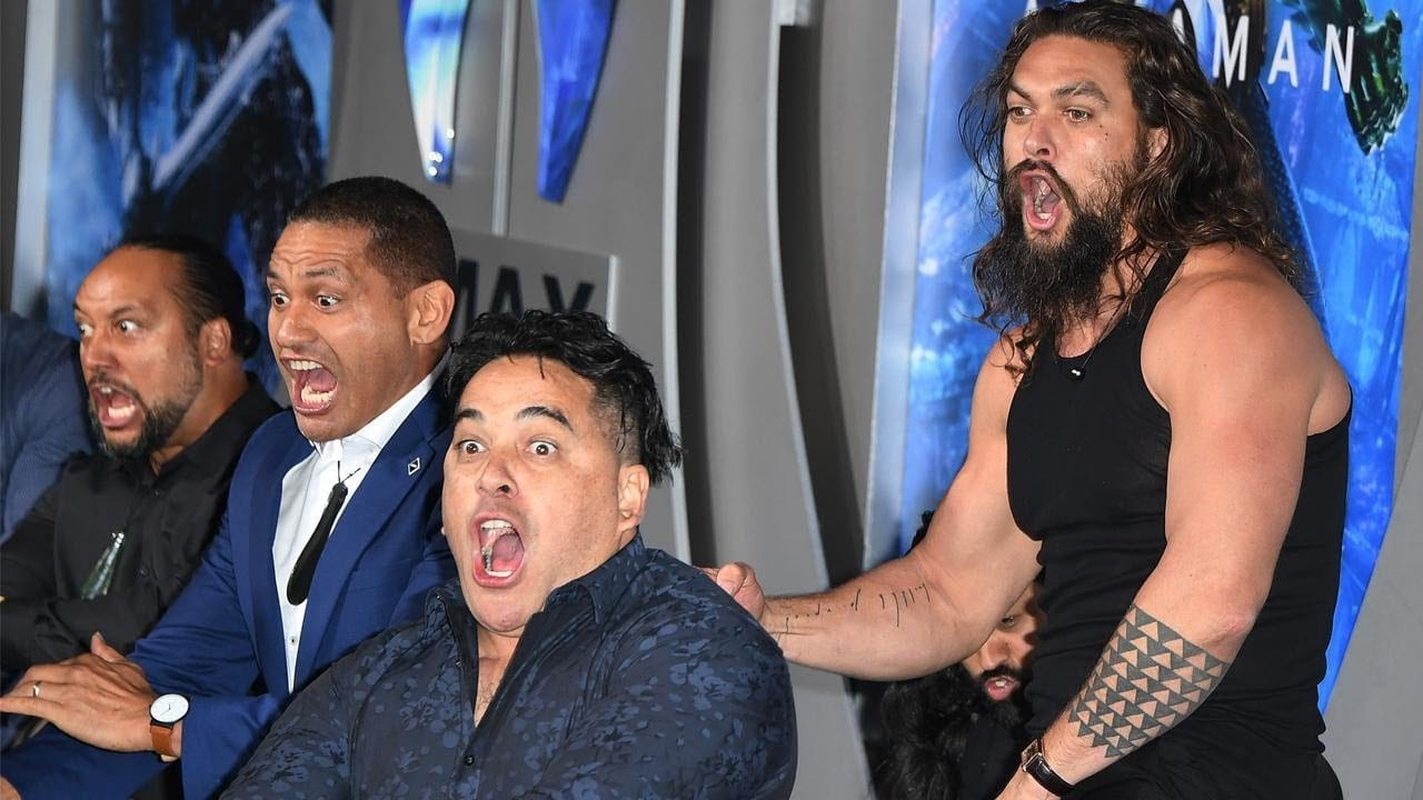 Jason Momoa Wows with Haka at 'Aquaman' Premiere