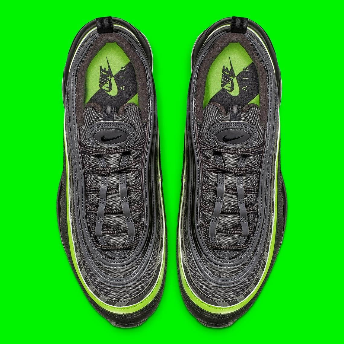 "86dae179f6 Check for the Nike Air Max 97 ""Thunder Grey/Lime Blast"" to drop on January  26 at select retailers for $160 USD. Take a look at the eye-grabbing  colorway ..."