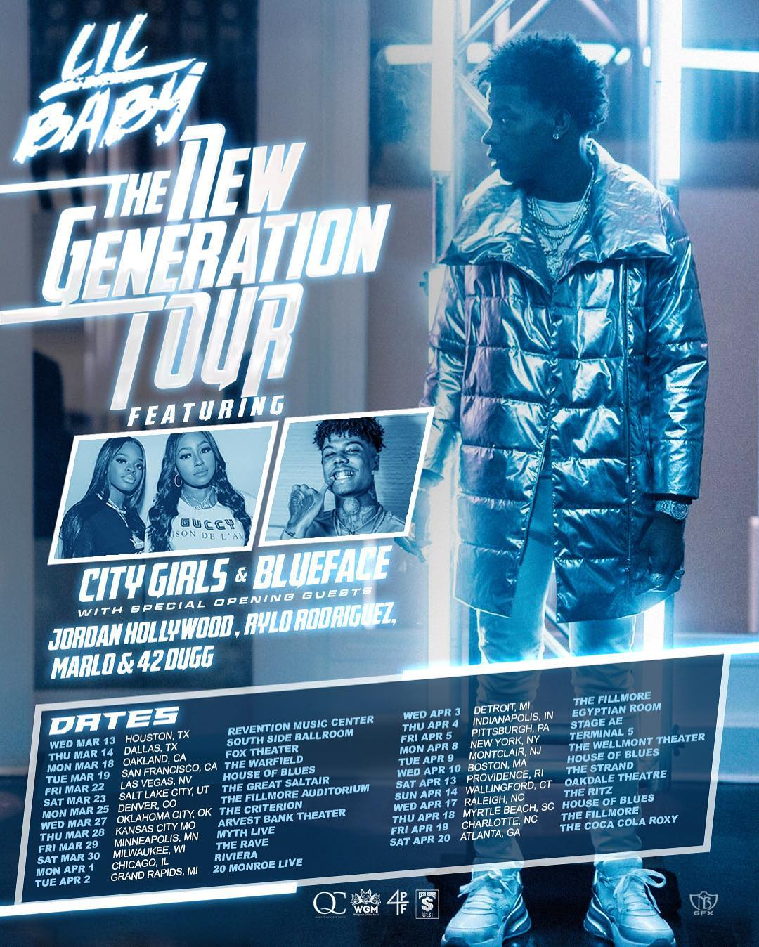 Lil' Baby Announces 'The New Generation Tour' Featuring City Girls, Blueface, Jordan Hollywood and More