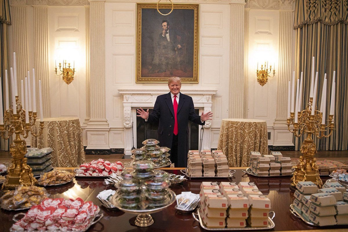 President Trump Brags About Paying For Fast Food Feast For the Clemson Tigers