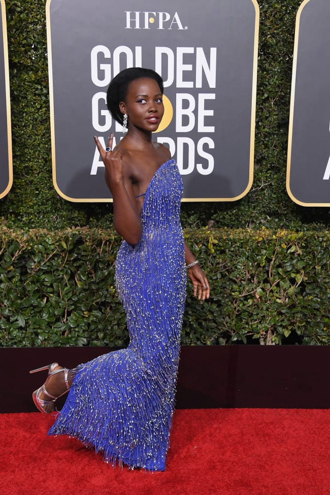 Lupita Nyong'o Rocks $45 Shoes to Golden Globes