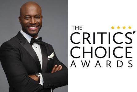 Taye Diggs Critics Choice Awards logo  shot