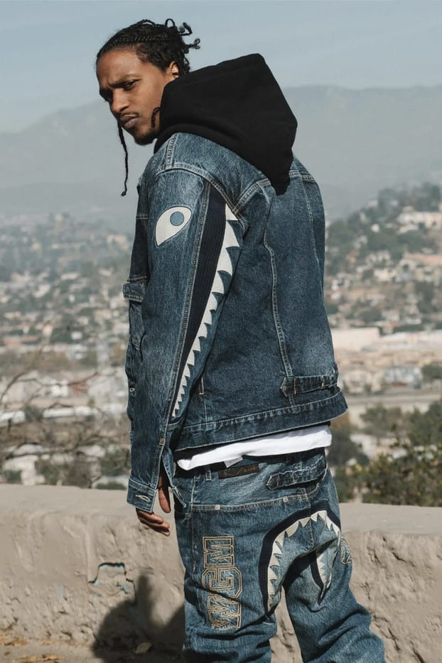 a bathing ape vintage denim collection