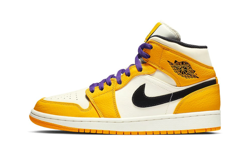 c473dd6b4ced51 ... Jordan Brand is already showing who they re rooting for with a new Air  Jordan 1 Mid colorway that LeBron