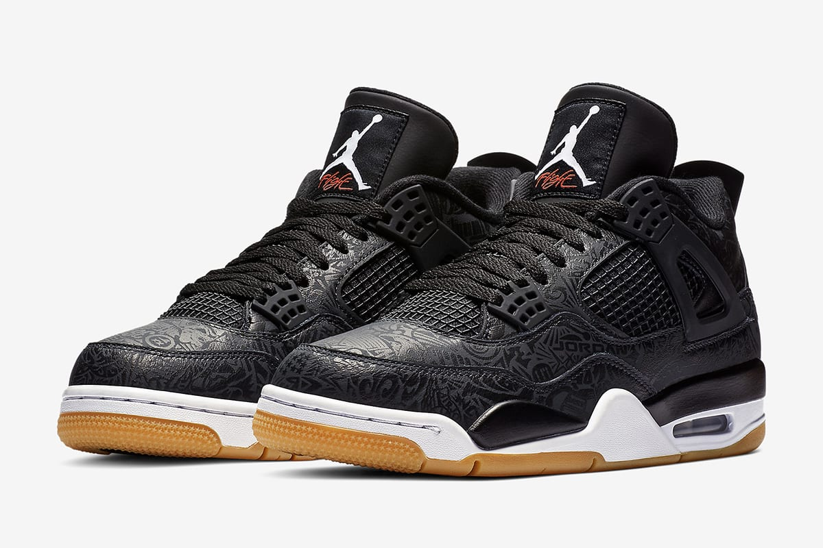 "58c1b6e548f Pick up the 30th Anniversary Air Jordan 4 ""Black Laser"" right now for $200  USD at select JB retailers and online. See more images of the commemorative  ..."