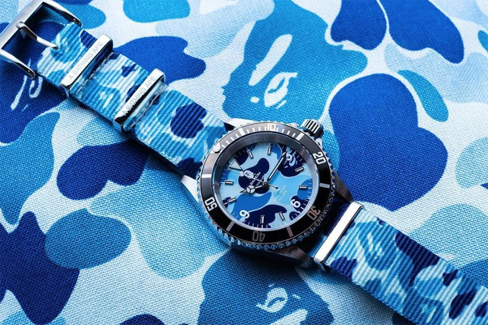 BAPE Gets Colorful With the Camo On a New Set of Type 1 BAPEX Watches
