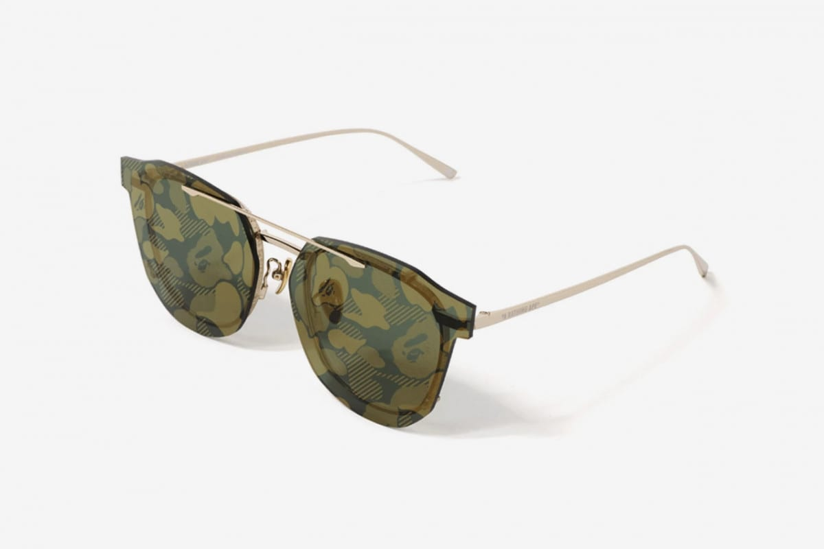 2078fe49abe Get On Your Dwayne Wayne Flow With These BAPE Camo Lens Sunglasses