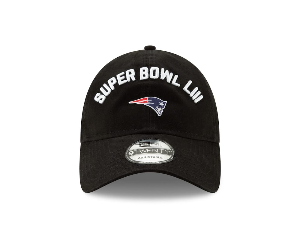 """855ec6860c0b04 Next up are the """"New Era Super Bowl LIII Participation"""" options ($28 USD –  $32 USD), a range that includes the 39THIRTY, 9FORTY, 9TWENTY and a knit  meant ..."""