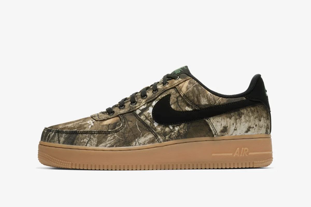 nike air force  realtree camo pack