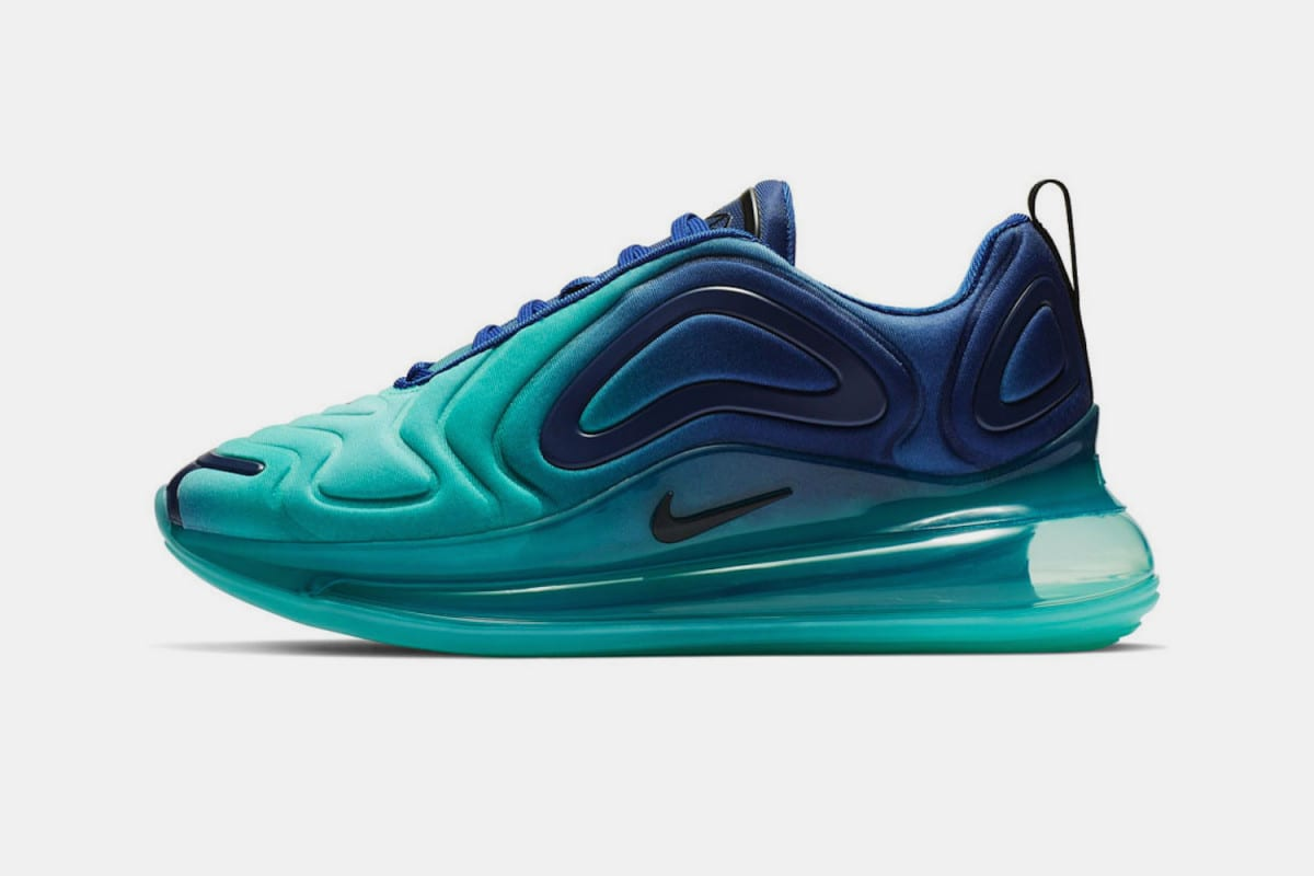 "online store f905c cd548 The initial Nike Air Max 720 colorway, dubbed the ""Northern Lights  Night""  for men (seen above) and ""Northern Lights  Day"" for women, drops tomorrow  ..."