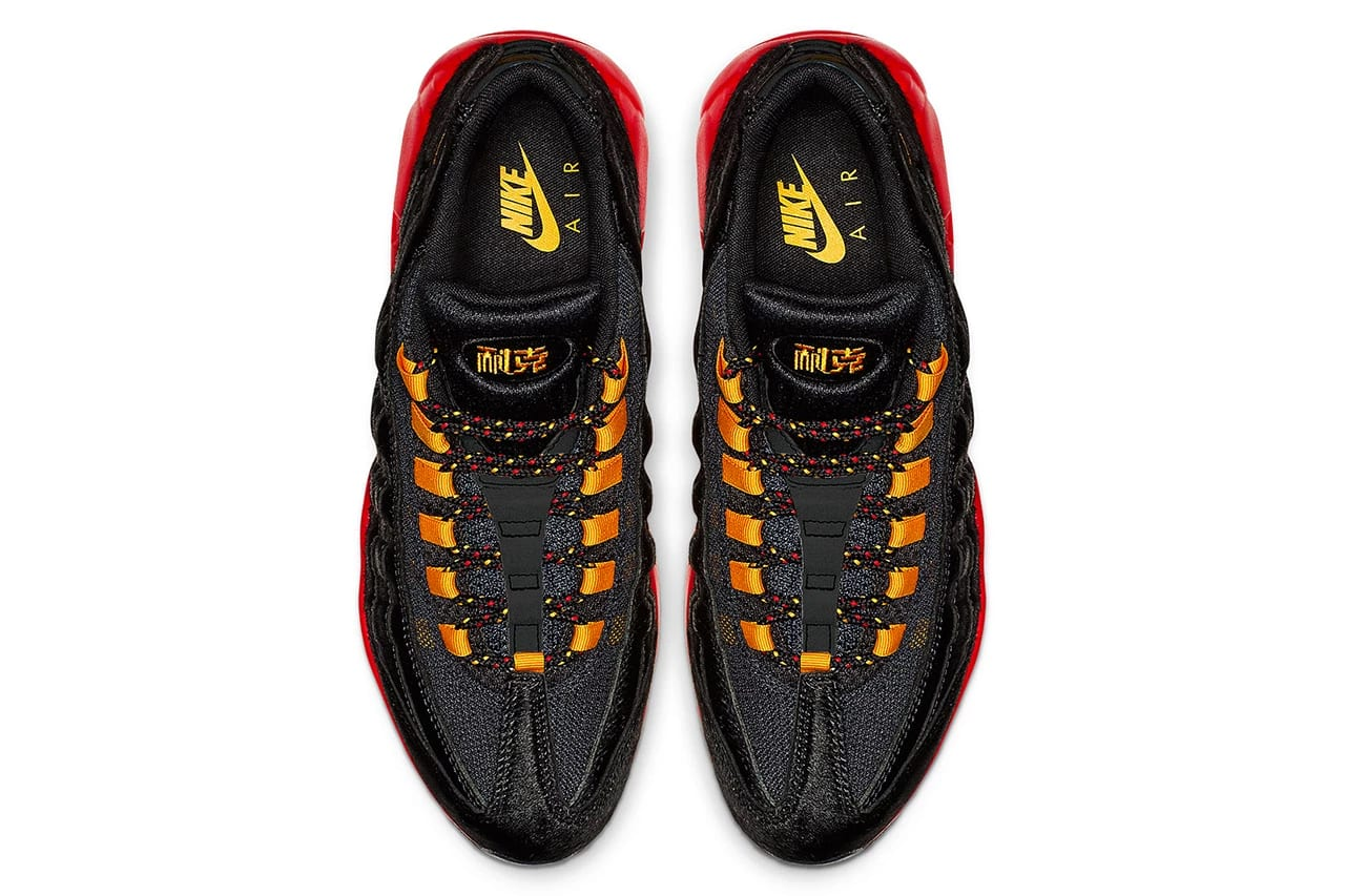 """more photos c755c 907ec The Nike Air Max 95 """"Chinese New Year"""" dropped today in China, but a wider  release stateside is set to hit us later in the month. Get a look at the  colorway ..."""