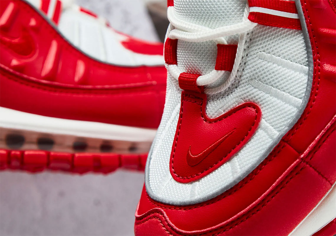 """competitive price 32d2a f0047 Pick up the Nike Air Max 98 """"University Red"""" starting Friday (January 25)  for 180 USD at select retailers, including Caliroots. Check it out in full  detail ..."""