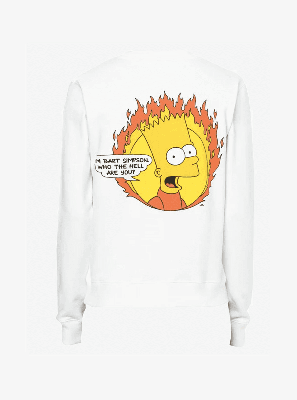 off white SS collection bart simpson