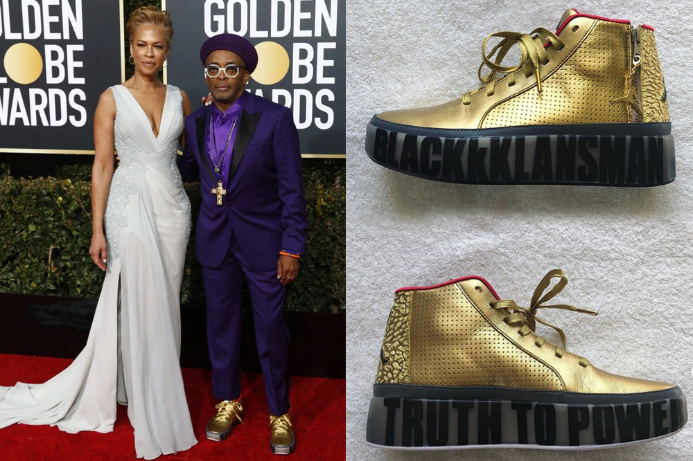 spike lee golden globes  custom jordans