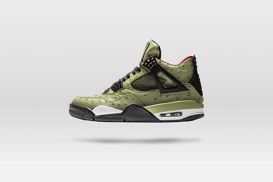 "designer fashion 9c67b 3932f The Shoe Surgeon Puts His Own Spin on Travis Scott s Air Jordan 4 ""Cactus  Jack"""