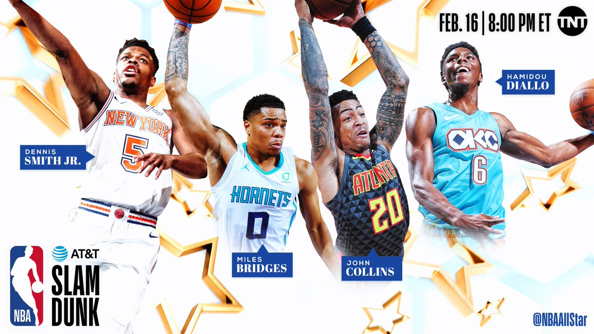 NBA Announces Competitors in All-Star Slum Dunk and Three-Point Contests