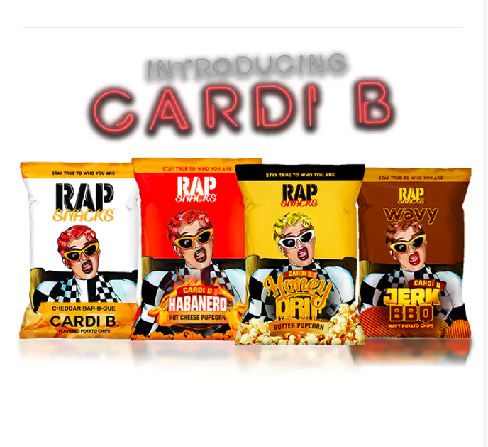 Rap Snacks Potato Chips Reveal Four New Cardi B Flavors