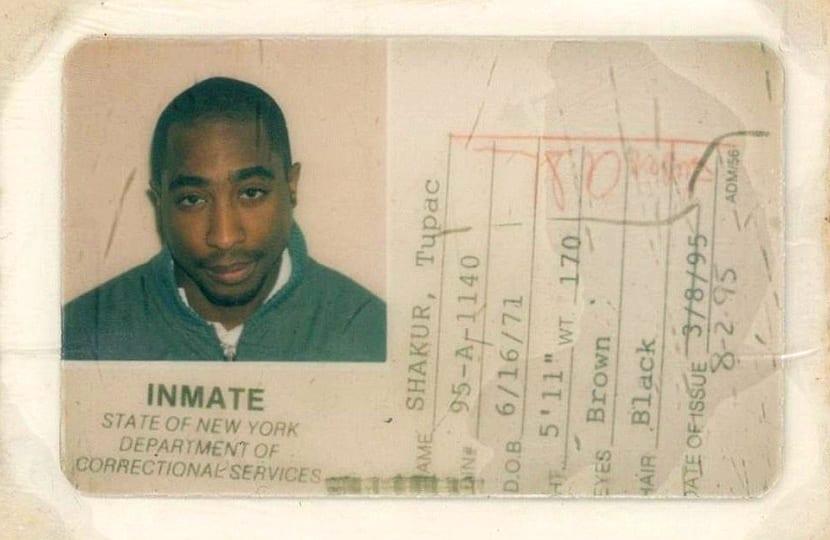 TUPAC PRISON ID CARD