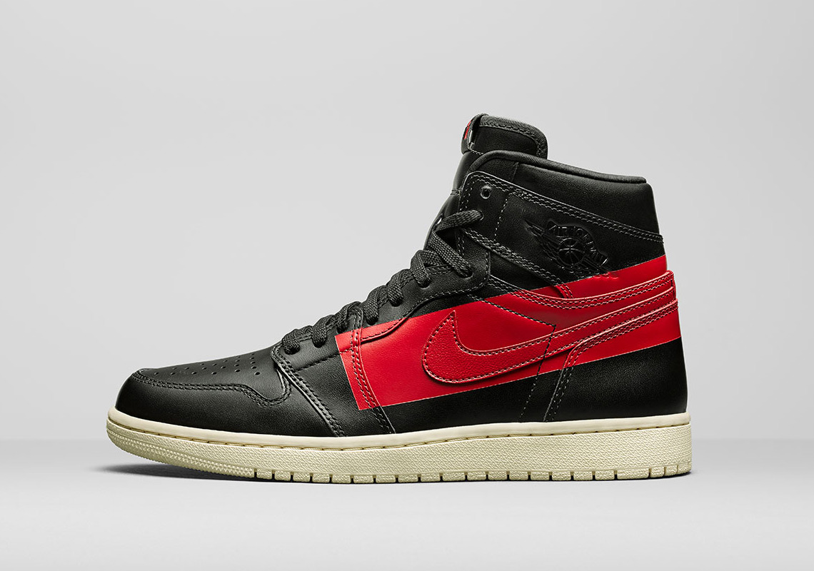 """2ed066691d8 While the """"bred"""" color combo isn t a strange pairing for the Air Jordan 1  silhouette"""