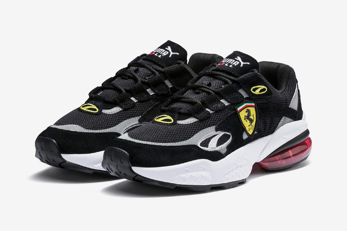 6a6da19bd8b7c Both variations, one black and the other showing off more of a fire red hue  that's become a fan-favorite colorway for Ferrari fans, feature mesh &  suede on ...