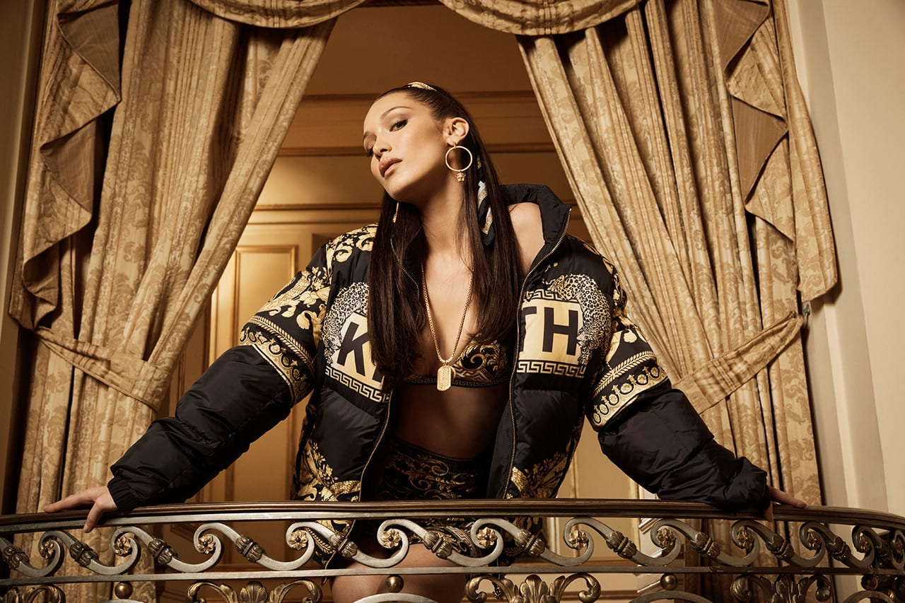 kith park versace lookbook bella hadid