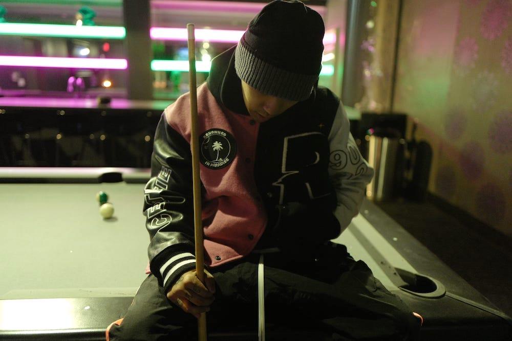 renowned la dok paradise varsity jacket