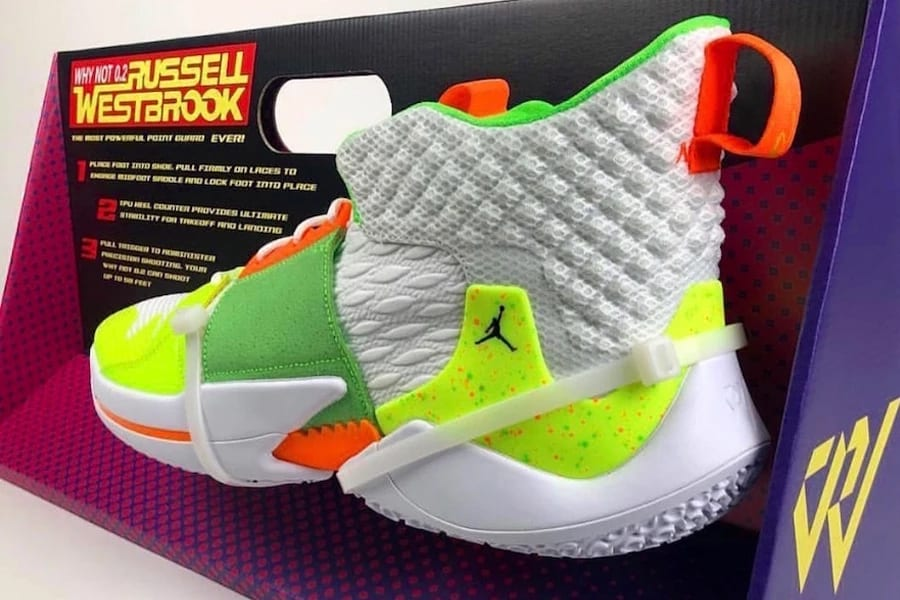 "f08f07828ff Russell Westbrook s Jordan Why Not Zer0.2 ""Super Soaker"" is a Dream Come  True For  90s Kids"