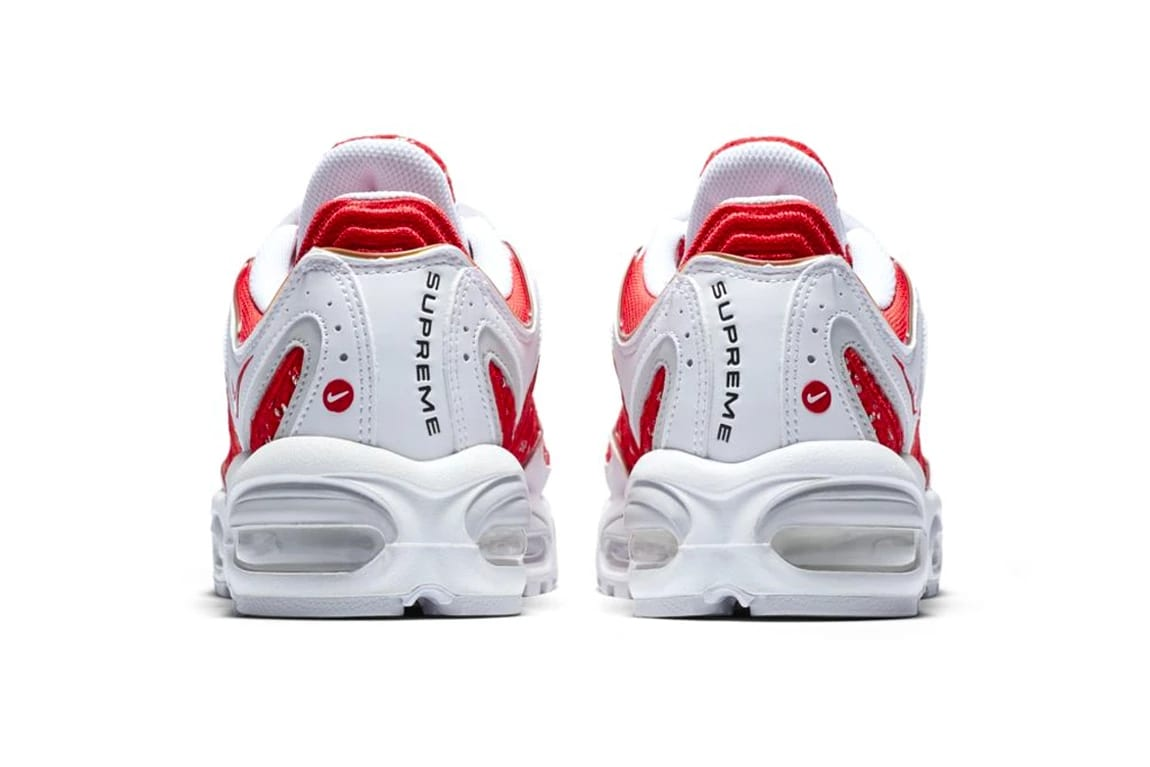 new product 7a429 5ec60 More updates will arrives in the near future about pricing and release date  info surrounding the Supreme x Nike Air Max Tailwind IV pack, ...