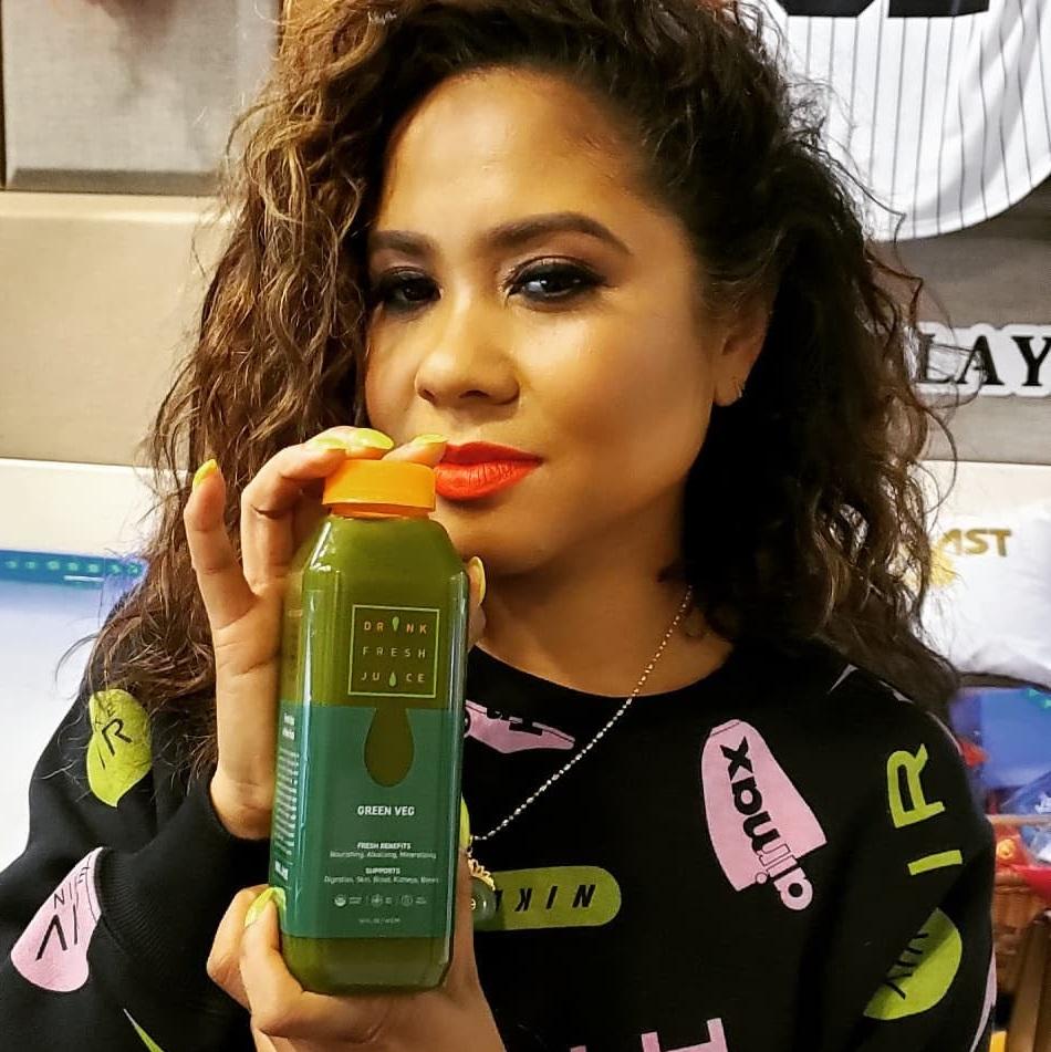 Angela Yee Drink Fresh Juice