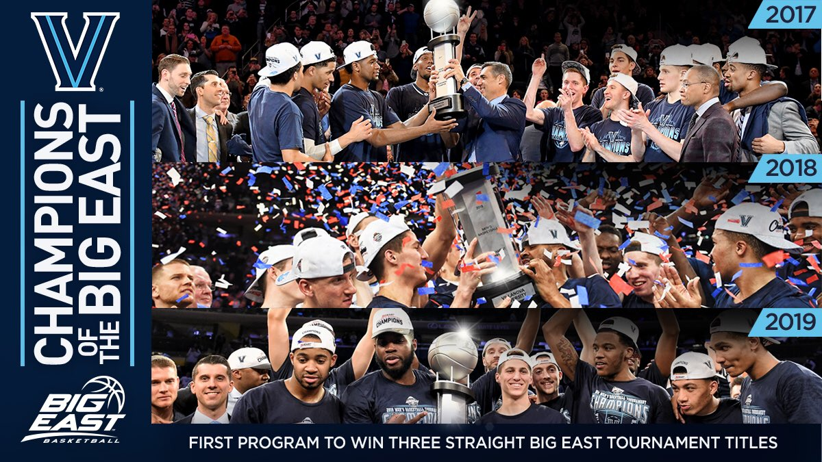 Villanova Wildcats Edges Out Seton Hall to Win Their Third Straight Big East Championship