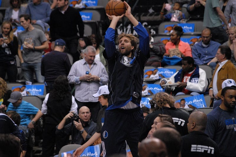 Dirk Nowitzki shooting February