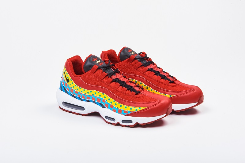 """1e64f6cfac6 The Nike Air Max 95 """"Home   Away"""" Collection is available on March 15 for   170 USD exclusively at Foot Locker. Get a better look below"""