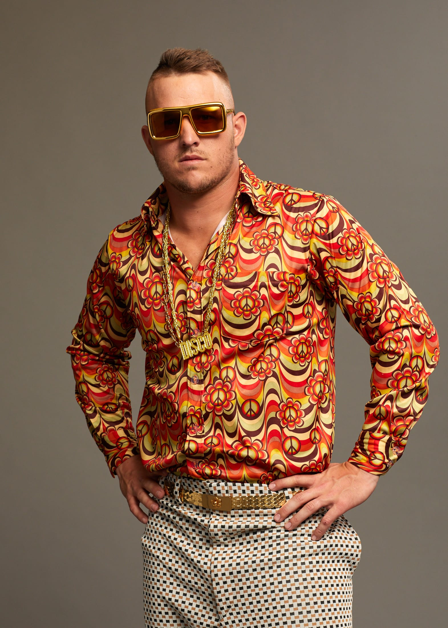 Mike Trout Shooting Disco Battle credit to BODYARMOR