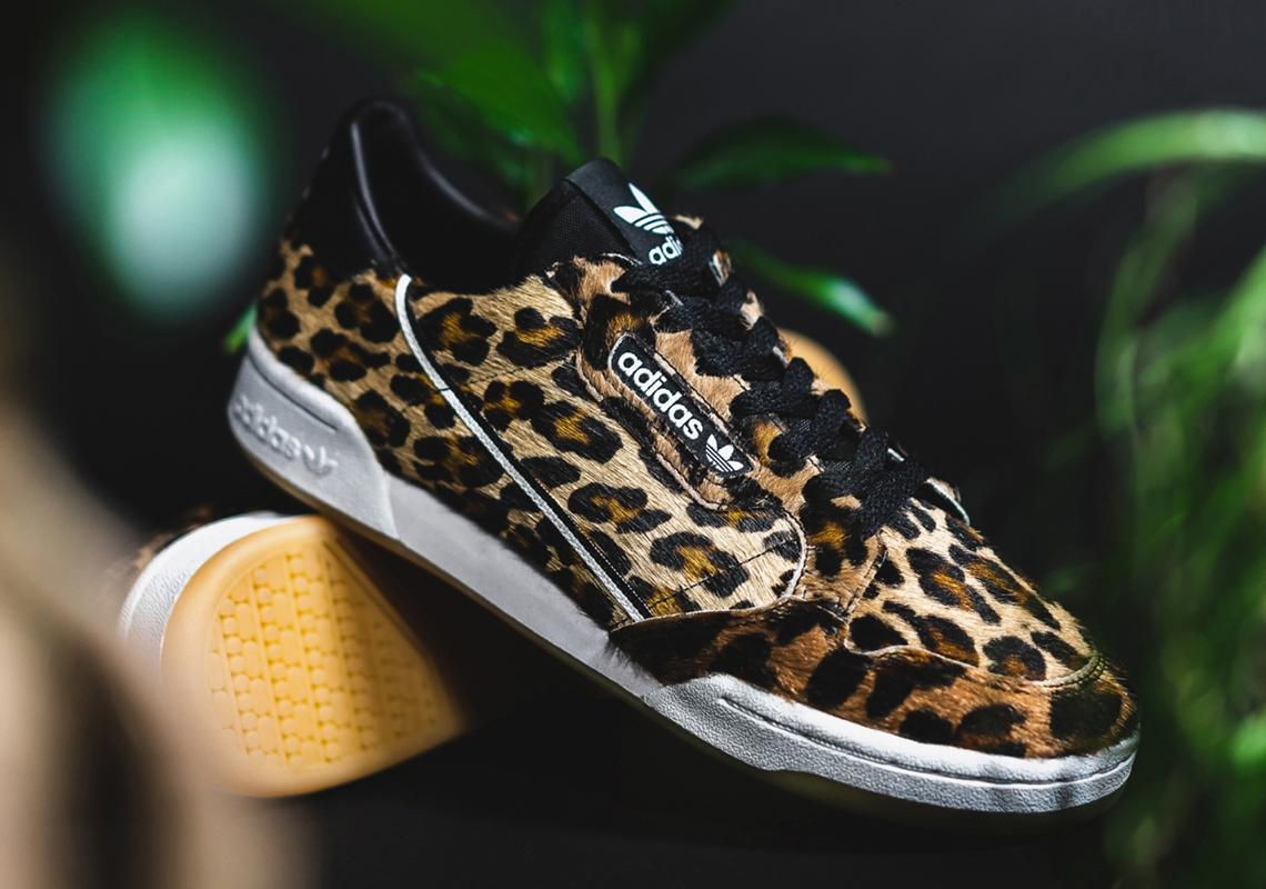 adidas continental  leopard