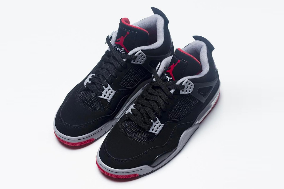 "sports shoes 9031d a4ff0 Check for the 2019 Air Jordan 4 ""Bred"" to hit JB retailers and Nike.com for   200 USD on May 11. Peep these initial images below for a preview"