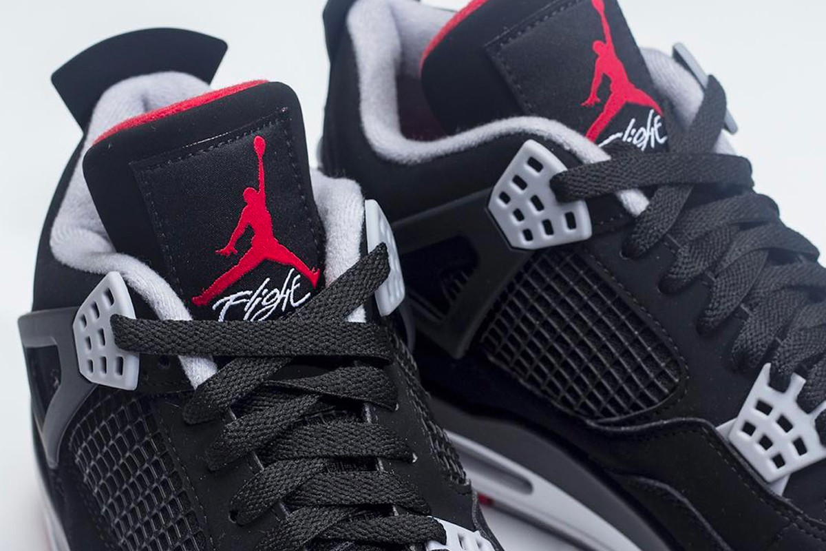 "sports shoes a9c7e 70ca8 Check for the 2019 Air Jordan 4 ""Bred"" to hit JB retailers and Nike.com for   200 USD on May 11. Peep these initial images below for a preview"
