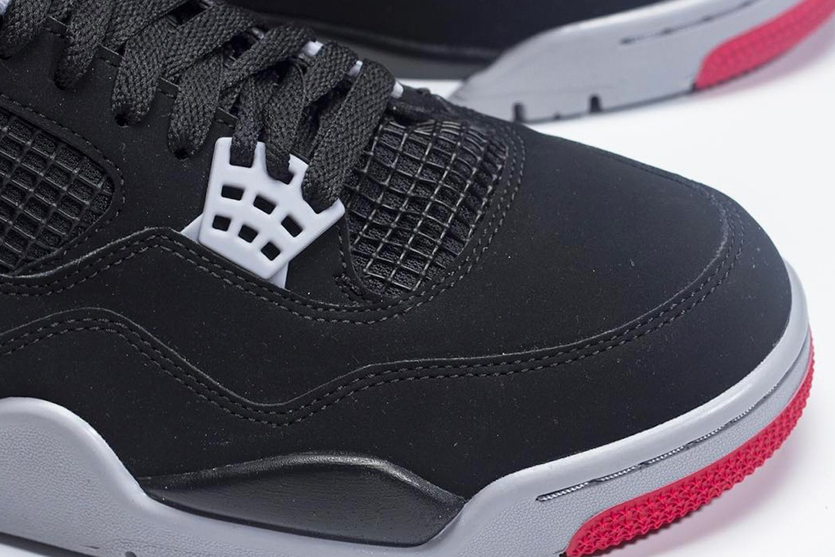 """05f07e5dd82840 Check for the 2019 Air Jordan 4 """"Bred"""" to hit JB retailers and Nike.com for   200 USD on May 11. Peep these initial images below for a preview"""