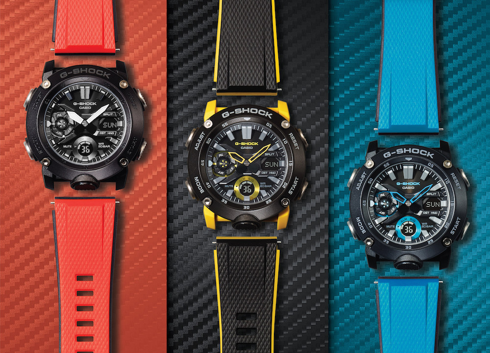 g shock ga g carbon series spring